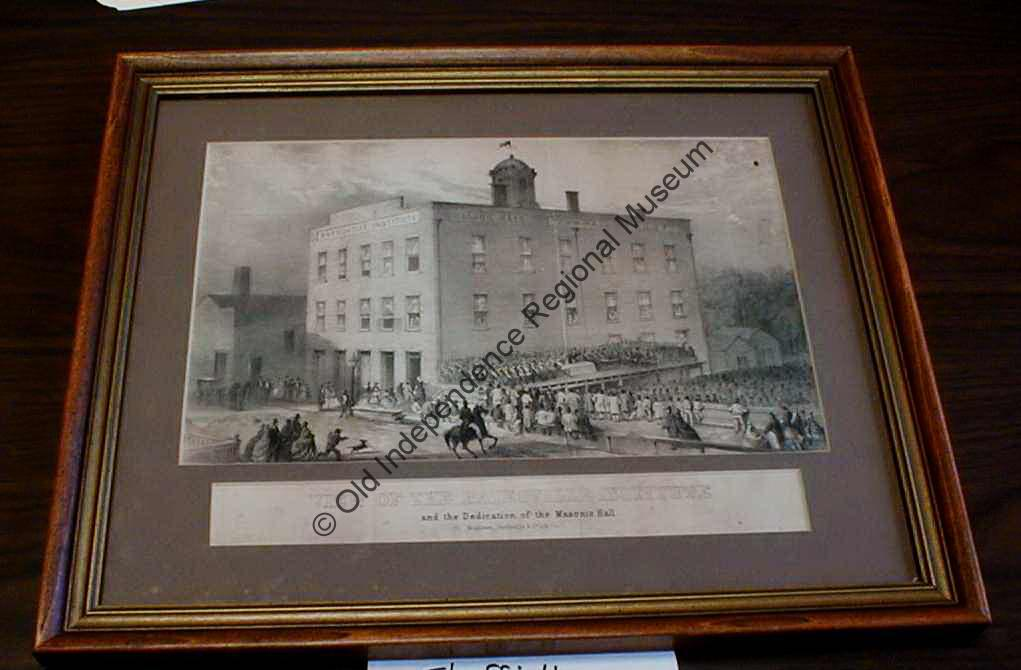 lithograph of the Dedication of the Masonic Hall in the Batesville Institute