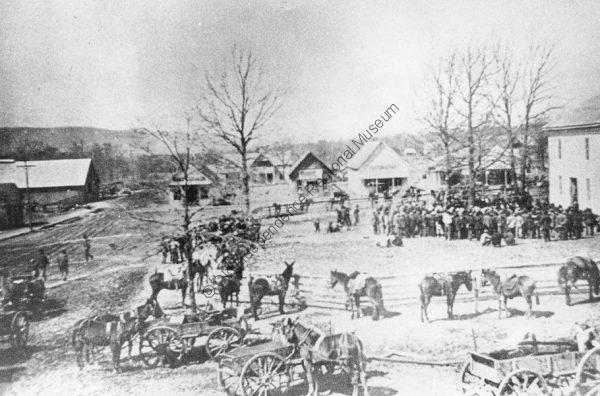 Stone County courthouse square in 1888