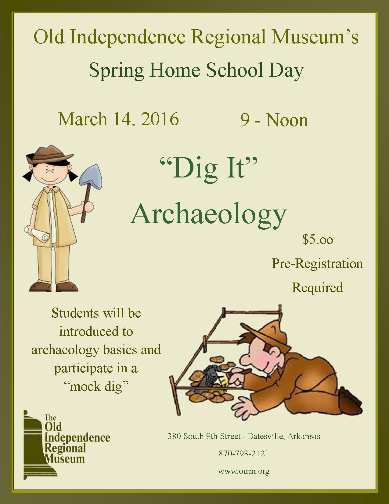 Spring 2016 Home School Event